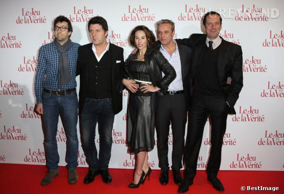 """François Desagnat, Vanessa Demouy, Philippe Lellouche, David Brecourt et Christian Vadim à l'avant-première du film """"Le Jeu de la Vérité""""."""