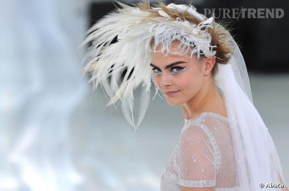 Cara Delevingne, la mariée Chanel Couture Printemps-Eté 2014.