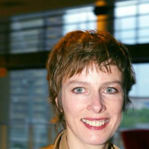 "Karin Viard à la première du film ""Tristan"" en 2003."