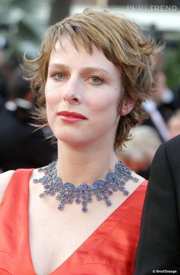 """Karin Viard au Festival de Cannes pour """"La petit Lili"""" en 2003."""