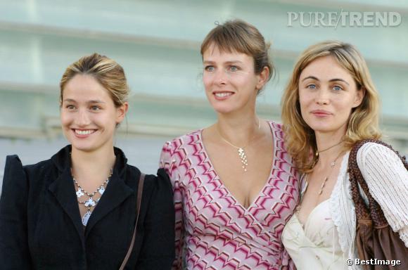Karin Viard, Marie Gillain et Emmanuel Béart au Festival du film de San Sebastian en 2005.