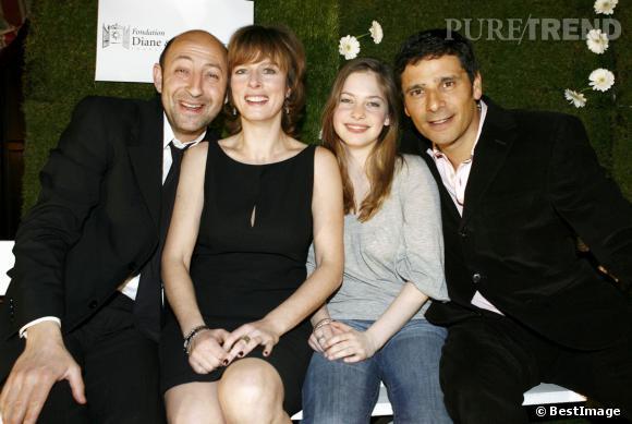 """Karin Viard, Kad Merad, Chloé Coulloud et Pascal Elbé en promo pour """"La Tête de maman"""" en 2007."""