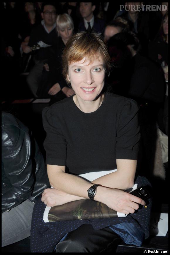 Karin Viard au défilé Paul & Joe automne-hiver 2009/2010.