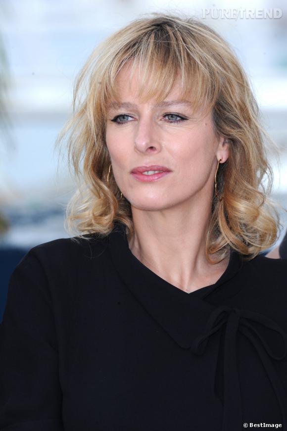 """Karin Viard au Festival de Cannes pour """"Polisse"""" en 2011."""