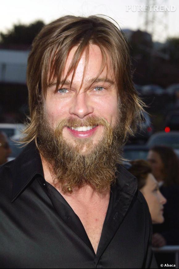 Quand Brad Pitt associe ses cheveux mi,longs à sa barbe emmeêlé, ça donne