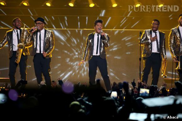 Bruno Mars au Super Bowl 2014.