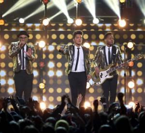 Bruno Mars, tout d'or vécu au Super Bowl 2014.