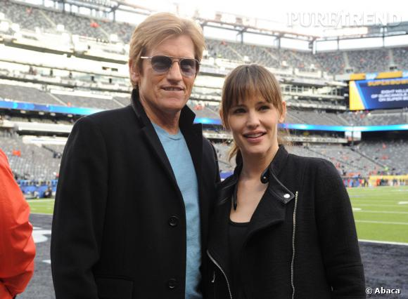 Jennifer Garner et Denis Leary au Super Bowl 2014.