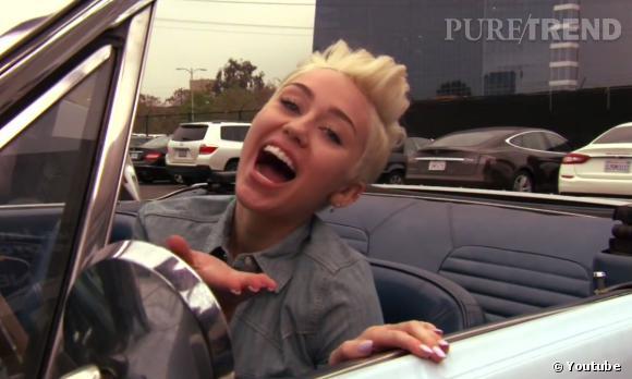 Miley Cyrus, toujours aussi déjantée pour Jay Leno.