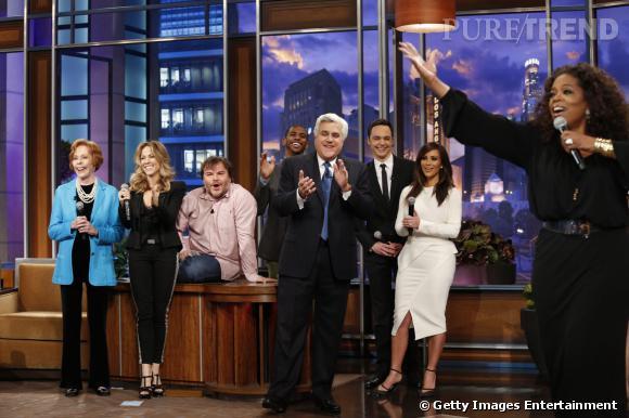 Jay Leno a fait les choses en grand pour sa dernière émission.