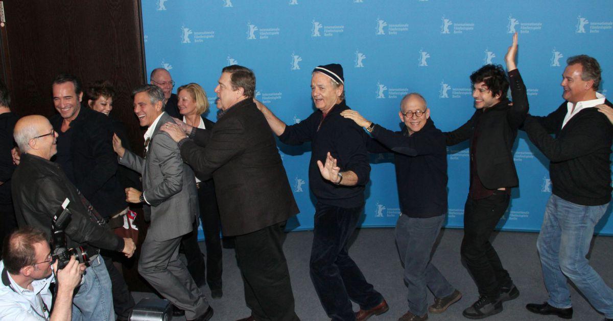 Jean dujardin george clooney et toute l 39 quipe du film for Dujardin chameau