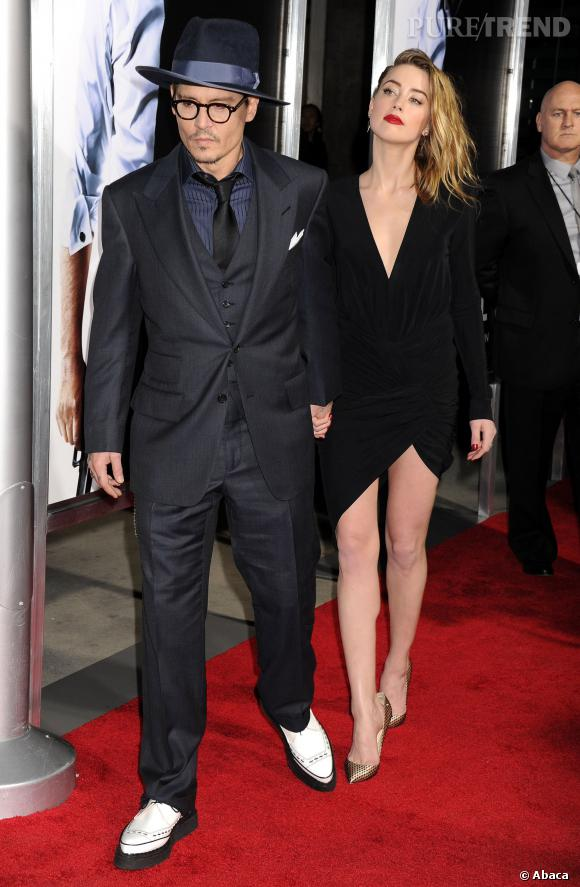 Amber Heard et Johnny Depp affiche enfin leur amour sur tapis rouge.