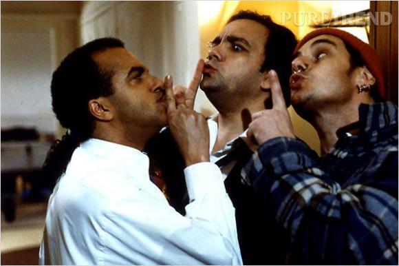 """Les Inconnus dans """"Les Trois Frères"""", leur premier film. Un carton."""
