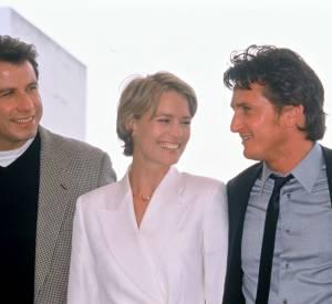 Robin Wright, Sean Penn et John Travolta au Festval de Cannes de 1994.