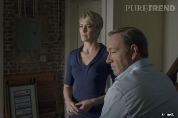 Robin Wright avec Kevin Spacey dans House of Cards.
