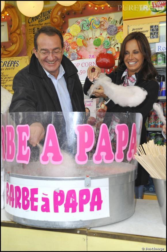 Nathalie Marquay et Jean-Pierre Pernaut, de grands gourmands tous les deux.