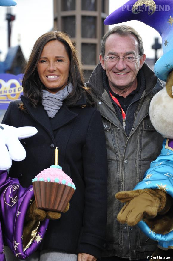 Nathalie Marquay et Jean-Pierre Pernaut aux prolongations du 20ème anniversaire de Disneyland Paris en mars 2013.