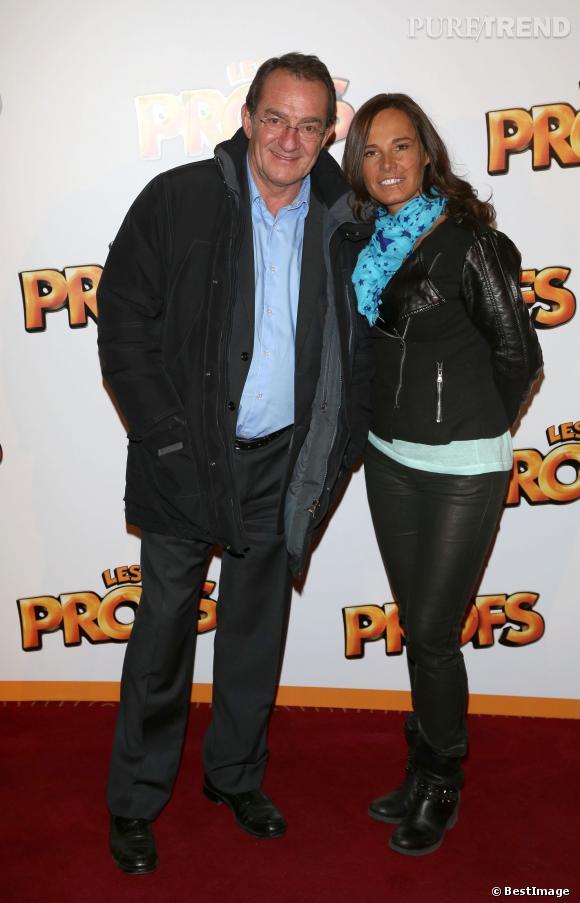 """Nathalie Marquay et Jean-Pierre Pernaut à la première du film """"Les Profs"""" au Grand Rex en avril 2013."""