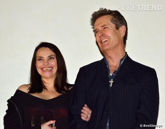 Béatrice Dalle et Rupert Everett pour la projection de Rosenndans le cadre du festival du film d'amour 2014 de Mons en Belgique.