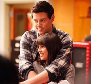 Rachel et Finn, alias Lea Michele et Cory Monteith dans la série Glee.