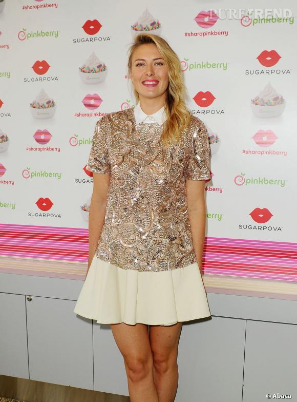 Maria Sharapova dévoile le topping Sugarpova imaginé pour Pinkberry.