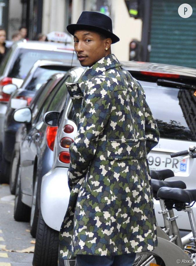 Pharrell se fait plus pointu dans ses go ts mode ici il adopte le trilby ch - Casquette pharrell williams ...
