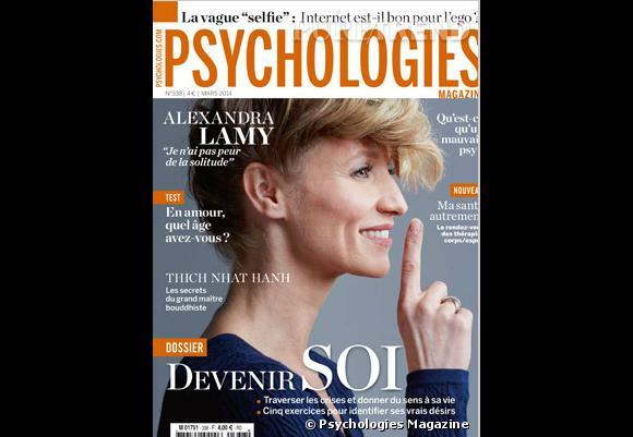 Alexandra Lamy en Une du dernier Psychologies Magazine.