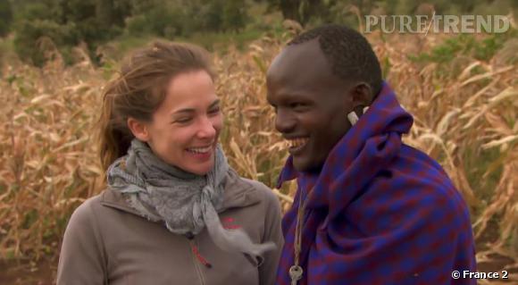 """Mélissa Theuriau en Tanzanie lors du dernier numéro de """"Rendez-vous en terre inconnue""""."""
