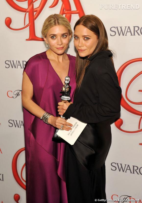 Mary-Kate et Ashley Olsen, créatrices de l'année 2012 dans la catégorie prêt-à-porter femme pour The Row.