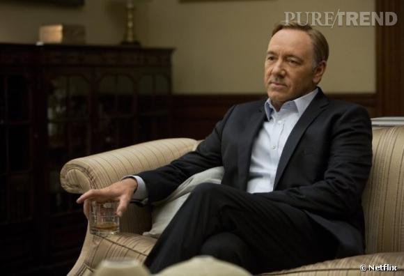 """Frank Underwood (Kevin Spacey) : Personnage principal de la série """"House of Cards"""", il est devenu vice-président des Etats-Unis à la fin de la saison 1. Mais évidemment, sa soif de pouvoir ne s'arrête pas là..."""