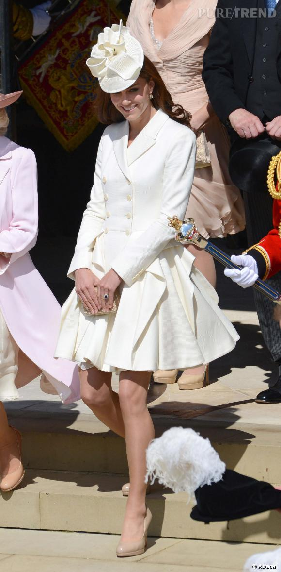 Kate Middleton s'occupe pour le moment de son bébé, le Prince George âgé de 8 mois en mars 2014.