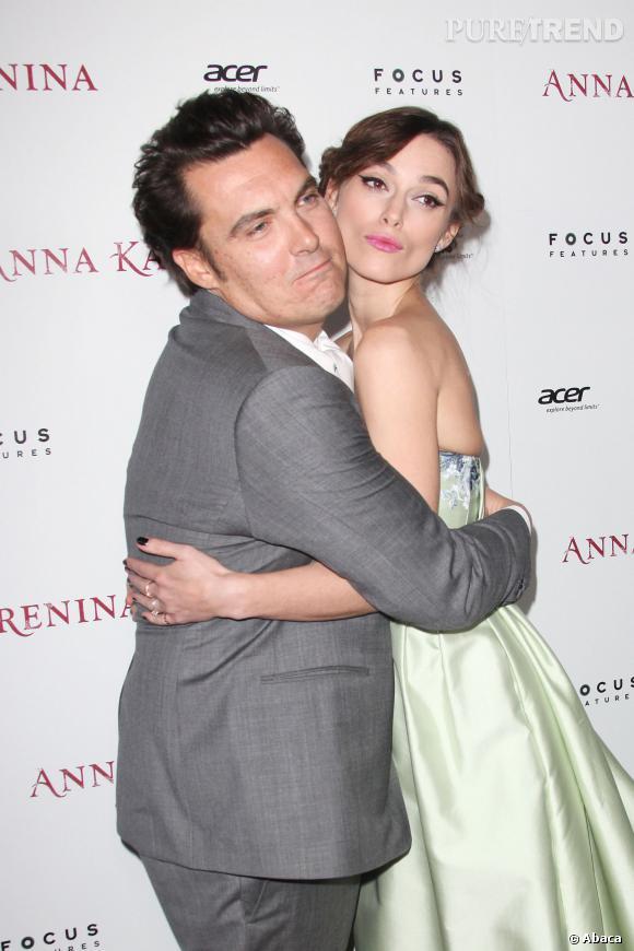 Keira Knightley et le réalisateur Joe Wright pour une avant-première d'Anna Karenine en novembre 2012.
