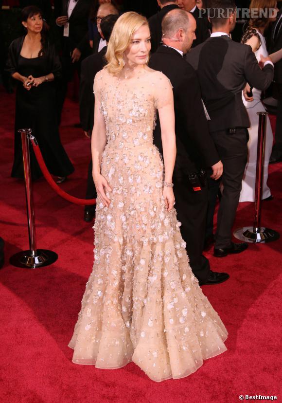 Cate Blanchett, la tenue la plus chère des Oscars 2014.