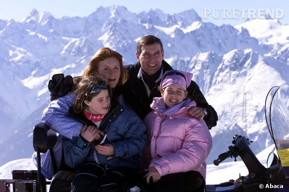 Sarah Ferguson et le Prince Andrew en famille en 2001.