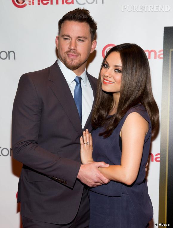 """Mila Kunis et Channing Tatum au CinémaCon de Las Vegas, pour présenter leur prochain film """"Jupiter Ascending""""."""