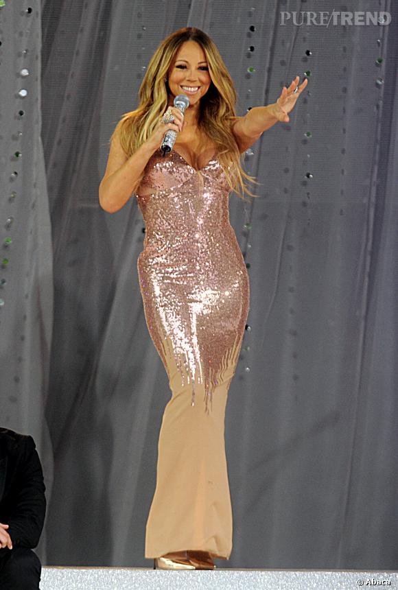 Mariah Carey sur scène pour Good Morning America Show en mai 2013.