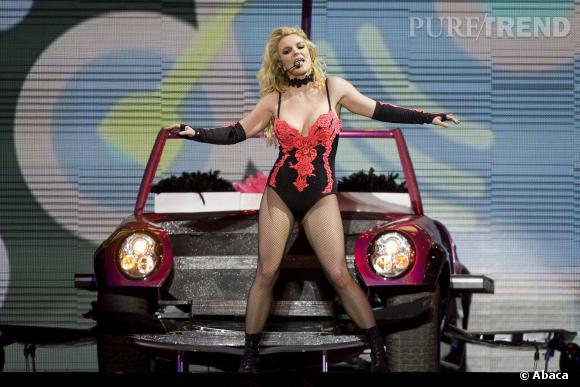Britney Spears en concert à Mexico en décembre 2011.
