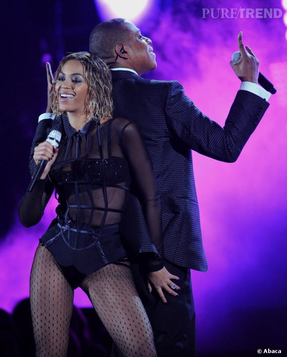 Beyonce et Jay-Z lors de la 56ème édition des Grammy Awards en janvier 2014.