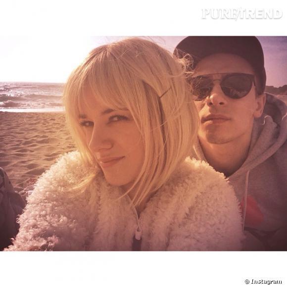Alizée, aujourd'hui devenue blonde, et son amoureux Grégoire Lyonnet.