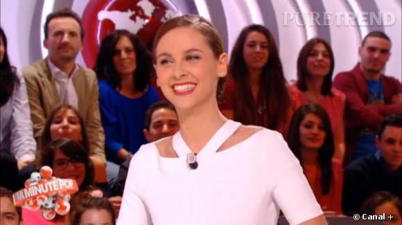 Ophélie Meunier porte parfaitement bien le blanc.