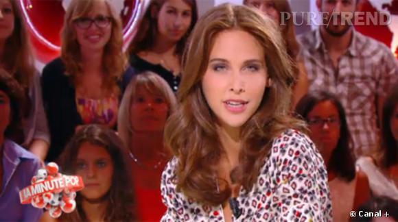 Ophélie Meunier en chemise léopard... féline !