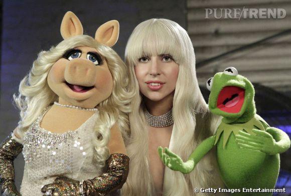 Lady Gaga, qui joue son propre rôle dans le film Muppet Show Most Wanted, est carrément fan de Kermit et Miss Piggy.
