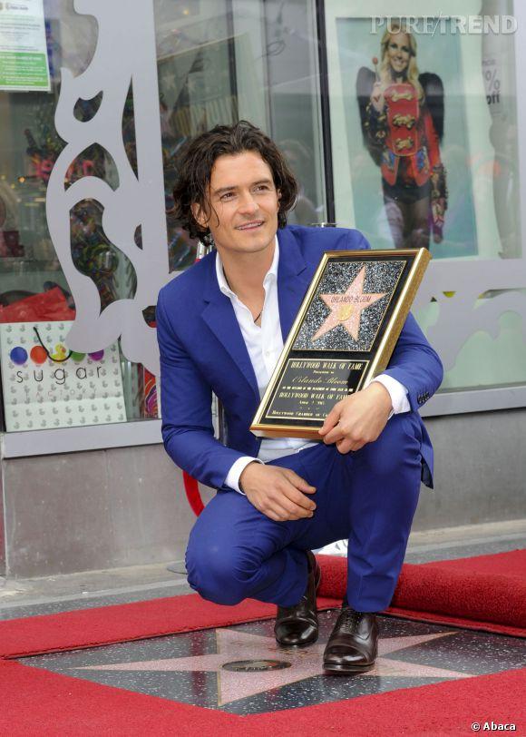 Orlando Bloom a enfin reçu la fameuse étoile du Hollywood Walk of Fame.