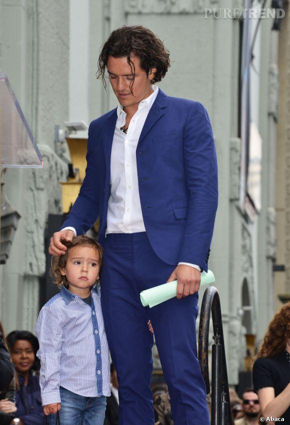Orlando Bloom et son fils Flynn dévoilent l'étoile de l'acteur.
