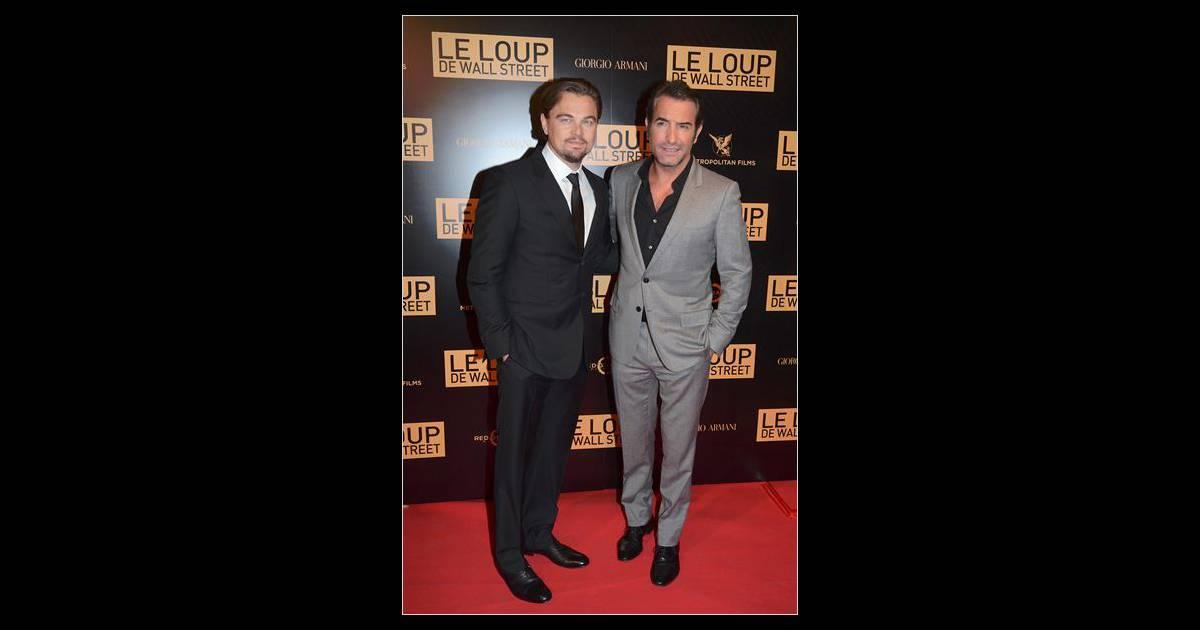Jean dujardin et leonardo dicaprio l 39 affiche du loup de for Dujardin dicaprio