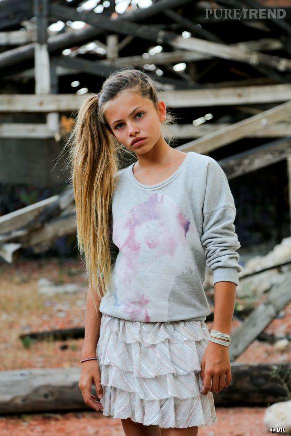 Thylane Blondeau, ravissante égérie Swildens teen pour la collection printemps-été 2014.