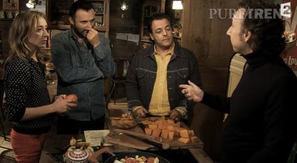 """Stéphane Bern avec Sylvie Testud, Frédérique Lopez et Chico Bouchikhi dans """"Parenthèse inattendue"""" de ce jeudi 9 avril 2014."""