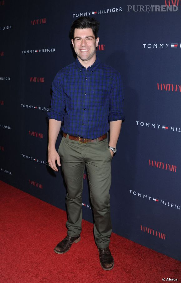 "Max Greenfield à la soirée de lancement de la collection ""To Tommy From Zooey""."