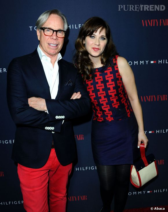 "Tommy Hilfiger et Zooey Deschanel à la soirée de lancement de la collection ""To Tommy From Zooey""."
