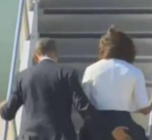 Michelle Obama : un incident de culotte évité grâce au Président (vidéo)